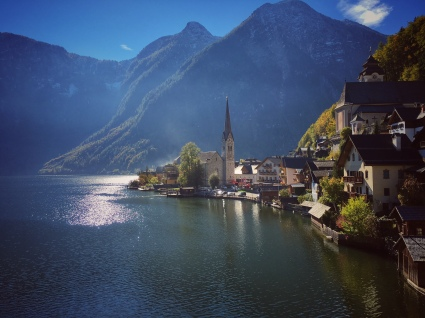 View from the road in Hallstatt